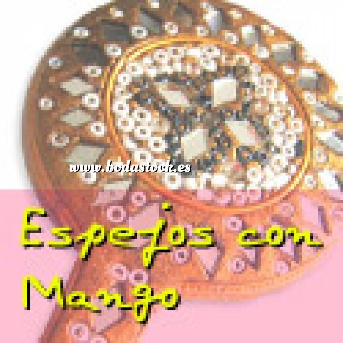 Imagen Espejos, Joyeros y Bisuteria Espejo India con mango (Últimas Unidades)