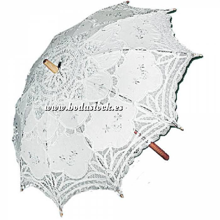Imagen Sombrillas Sombrilla Encaje Mediana Blanca