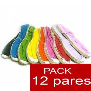 Mujer Colores Lisos - Alpargatas Boda MUJER Surtidas en colores y tallas - Caja 12 pares