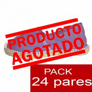 Mujer Colores Lisos - Alpargatas cerradas MUJER color LILA - caja 24 pares