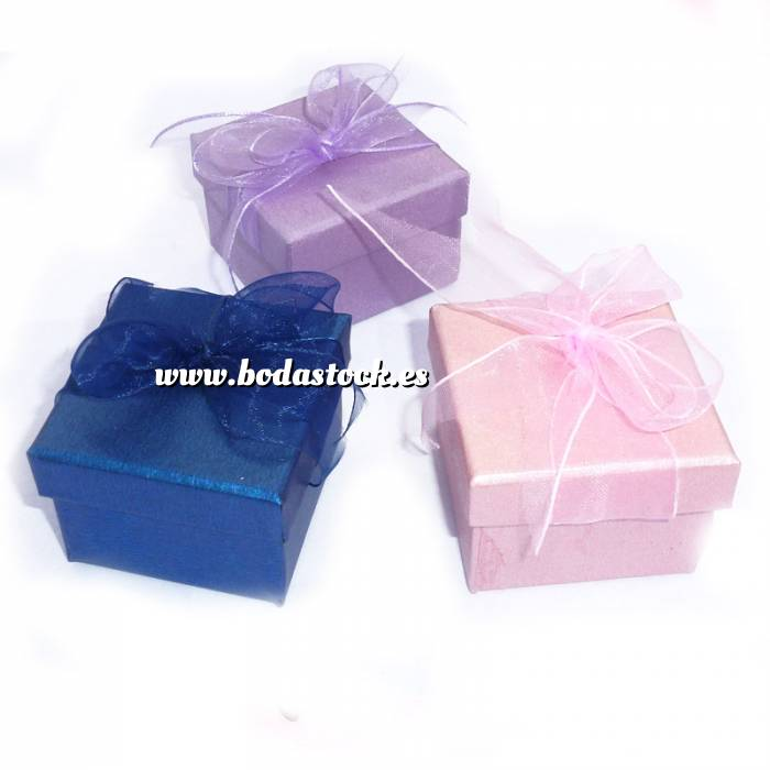 Bodastock ofertas para tu boda manualidades cajitas para regalo cajita cuadrada colores - Manualidades regalo boda ...