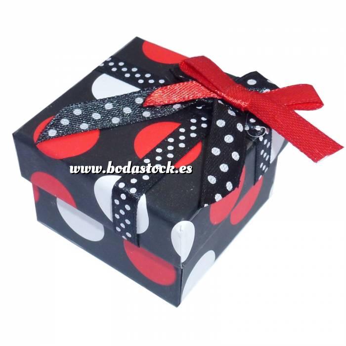 Imagen Cajitas para regalo Cajita para anillos o regalitos - negra y lunares rojo y blanco
