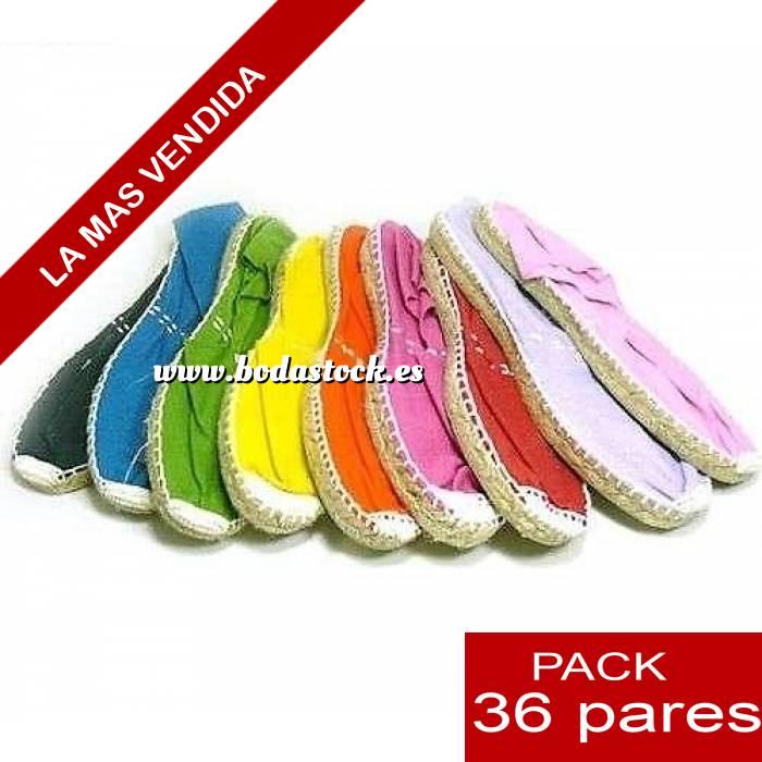 Imagen Mujer Cerradas Alpargatas cerradas Boda Surtidas en colores y tallas - caja de 36 pares