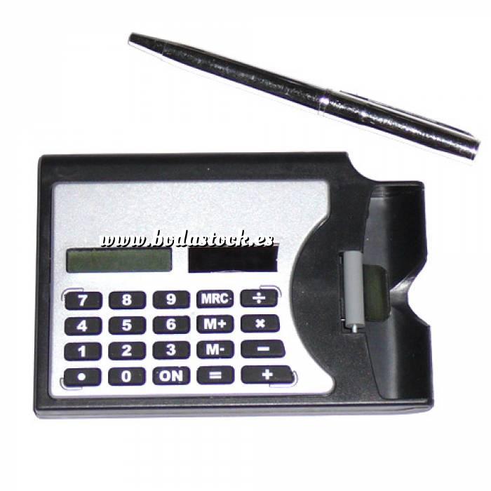 Imagen Para Hombre Tarjetero con Calculadora y Bolígrafo