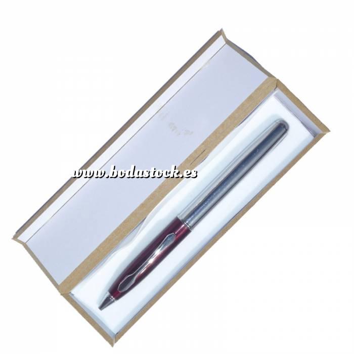 Imagen Prácticos mujer Bolígrafo invertido Burdeos/plata en caja de madera burdeos (Últimas Unidades)