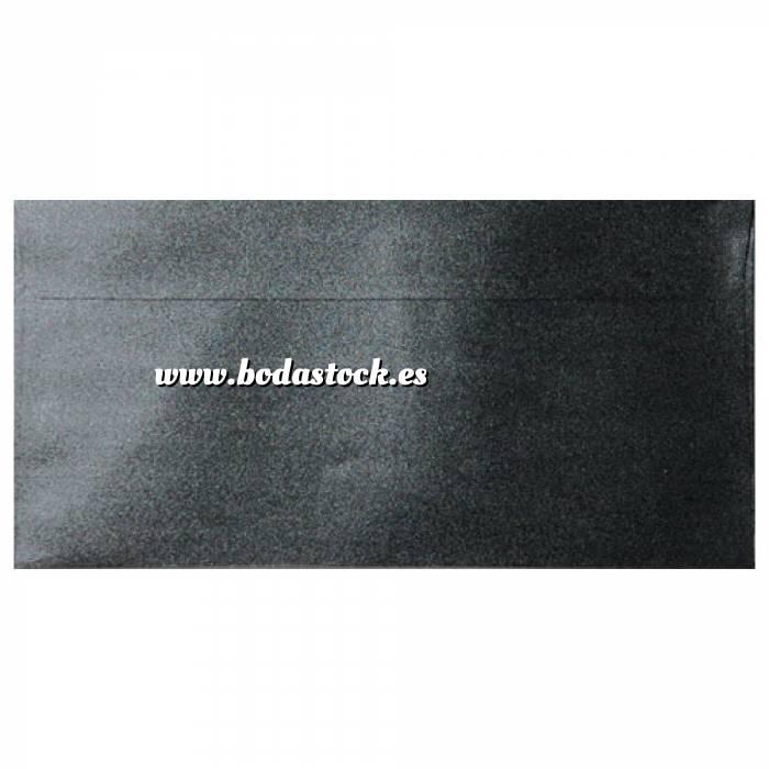 Imagen Sobre Americano DL 110x220 Sobre Perlado negro DL