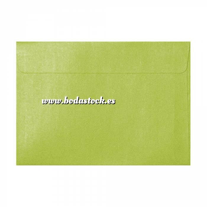 Imagen Sobres C5 - 160x220 Sobre Perlado verde c5 (Verde Lima)