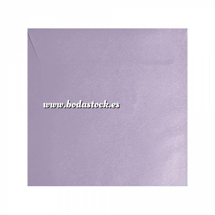 Imagen Sobres Cuadrados Sobre textura lila Cuadrado