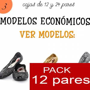 Imagen Modelos Economicos Manoletinas Melissa M.311 GOLD - Lote de 12 pares (Tallaje 2)- TALLAJE 36 a 39 (Últimas Unidades)