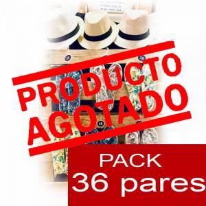 Imagen Mujer Estampadas Alpargata estampada 3 FLORES Caja 36 pares - OFERTA ULTIMAS CAJAS (Últimas Unidades)