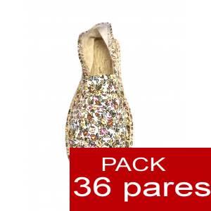 Mujer Estampadas - Alpargata estampada FLORES MODELO A1 Caja 36 pares (Últimas Unidades)