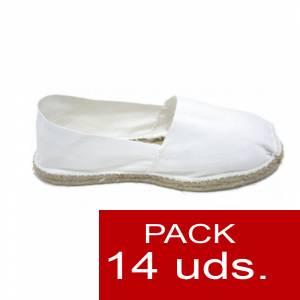 Para Niño - Alpargatas Niño color BLANCO LOTE de 14 uds (tallas 28-34)