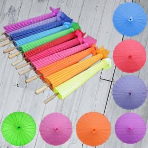Sombrillas - Sombrilla Japonesa SIN dibujos y Colores Surtidos NO INCLUYE BLANCO